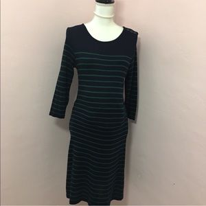 ASOS Maternity Navy with green stripes Dress 10